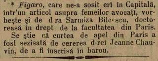 Prima femeie doctor in drept din Europa - Sarmiza Bilcescu